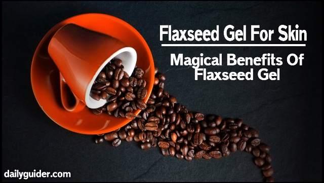 Flaxseed gel for skin